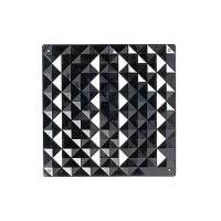 Комплект декоративных панелей PIRAMIDE 254х254мм (6 штук), отделка черная