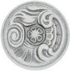 WPO2028/30.00T4 Ручка-кнопка  белый/ винтажное серебро, Giusti