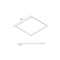 """Поддон гигиенический в базу 1000/16, модель """"А"""", отделка алюминий с защитным покрытием"""
