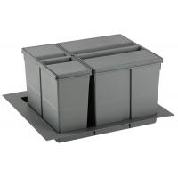 9XL Система хранения в базу 600, H.277мм (ведра: 1х11л, 1х26л), отделка орион серый