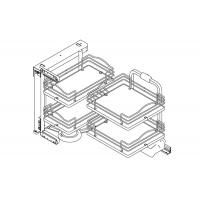 Механизм Dynamic Corner в угловую базу, левый, отделка хром + белый