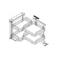 Механизм Dynamic Corner в угловую базу, левый, отделка титаниум