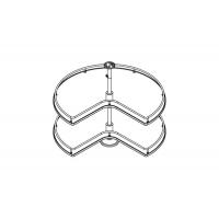 Карусель 3/4 в угловую базу 900х900, отделка хром + белый
