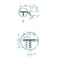7316.0297.026 Ручка погонаж (профиль) модерн, глянцевый хром 297 мм