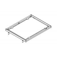 Полка в базу 600 с алюминиевой рамкой под стекло
