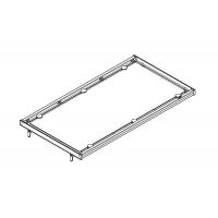 Полка в базу 900 с алюминиевой рамкой под стекло