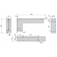 MD06.KOLT.9005  Менсолодержатель «Кольт», отделка черный бархат (матовый), комплект 2 штуки