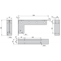 MD06.KOLT.9010  Менсолодержатель «Кольт», отделка белый бархат (матовый), комплект 2 штуки