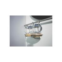 Держатель подвесной на рейлинг для масла и уксуса 165х130х210 мм, хром матовый