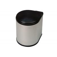 Ведро для мусора (13л), пластик чёрный + алюминий