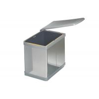 Ведро для мусора (16л), пластик   серый металлик + сталь нержавеющая