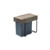Ведро для мусора (21л) выдвижное, пластик серый антрацит + серый кварц