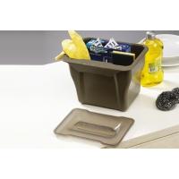 Контейнер (5л), пластик кварц серый с дымчато-серой крышкой