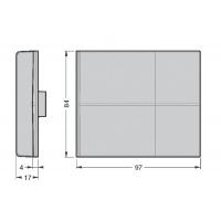 Крышечка декоративная для подвески арт.807.RV, белая