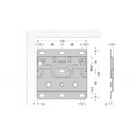 Кронштейн 120х120мм для подвесок арт.807 и 807.RV, отделка цинк