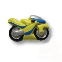 355AM Ручка кнопка детская, мотоцикл желтый