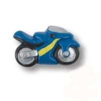 355AZ Ручка кнопка детская, мотоцикл синий