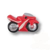 355RJ Ручка кнопка детская, мотоцикл красный