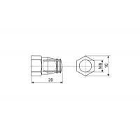 Бусола М8х20 для червячной стяжки