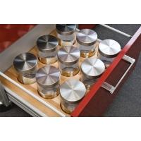 45.9VI/17/BT50 Ёмкость в базу 450, с 6 банками (1.0л), бук/стекло, для ящика Blum (L=500мм)