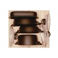 Ёмкость в базу 600, с набором посуды (7 предметов), бук, для ящика Hettich (L=470мм)