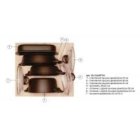 Ёмкость в базу 600, с набором посуды (7 предметов), венге, для ящика Hettich (L=470мм)