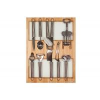 Ёмкость в базу 450, с кухонными приборами (9 предметов), бук, для ящика Hettich (L=470мм)