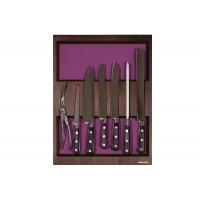 Ёмкость в базу 450, с набором ножей (7 предметов), венге, для ящика Hettich (L=470мм)