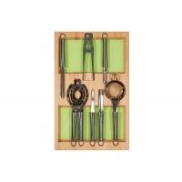 Ёмкость-расширитель 300 с кухонными приборами (7 предметов), бук, для ящика Hettich (L=470мм)