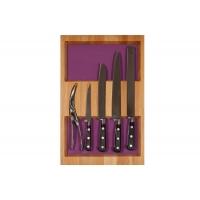 Ёмкость-расширитель 300 с набором ножей (5 предметов), бук, для ящика Hettich (L=470мм)
