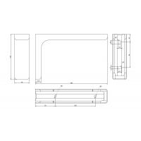 AA1.A018.DE2F2  Менсолодержатель Leonardo 18, отделка хром глянец, комплект 2 штуки