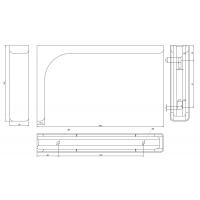 AA1.A024.DE2F2  Менсолодержатель Leonardo 24, отделка хром глянец, комплект 2 штуки