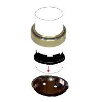 K109ОТ Универсальное крепление барной трубы d=50 к полу-потолку, золото