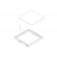 Полка стеклянная, для рамки в базу 680,арабика (609,5х461х8мм, матированная)