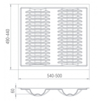 Вкладыш для тарелок в ящик полного выдвижения, ширина корпуса 600мм