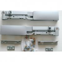 Комплект доводчика (1 доводчик + 1 ответная часть) для боковин с роликовыми направляющими Firmax, серый