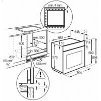 Встраиваемый духовой шкаф Zanussi ZOG 511217 C
