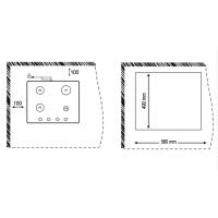Газовая варочная панель Korting HG 660 CRN