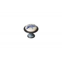 P08.Y01.45.MC3G Ручка-кнопка, отделка серебро чернёное c лазуритом + керамика