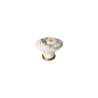 P02.01.12.06 Ручка-кнопка, отделка золото глянец + керамика