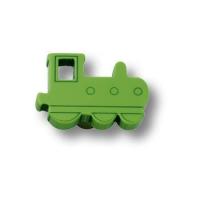 605VE Ручка кнопка детская, паровозик зеленый