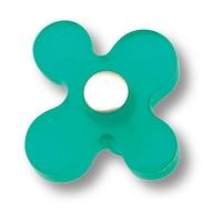 608VE Ручка кнопка детская, цветок зеленый
