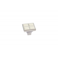 24200Z0270N.C32 Ручка-кнопка, отделка никель глянец + ваниль