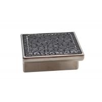 24206E0574A.32 Ручка-скоба 32мм, отделка никель глянец + чёрный (кайман)