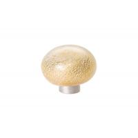 24EM.009037.BO Ручка-кнопка из стекла, отделка фольга + золото