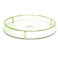 TS450OT Полка стекло центральная D=450 для барной стойки, золото