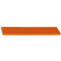 217.689-2015/9603 Ручка-скоба 160мм, отделка хром глянец + оранжевый пластик
