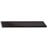 217.689-2011/9603 Ручка-скоба 160мм, отделка хром глянец + чёрный пластик