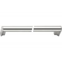 8.1060.0448.35-33 Ручка-скоба 448мм, отделка никель матовый шлифованный + сталь нержавеющая шлифованная