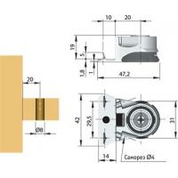 Опора регулируемая с шипами, регулировка 25 мм INTEGRATO